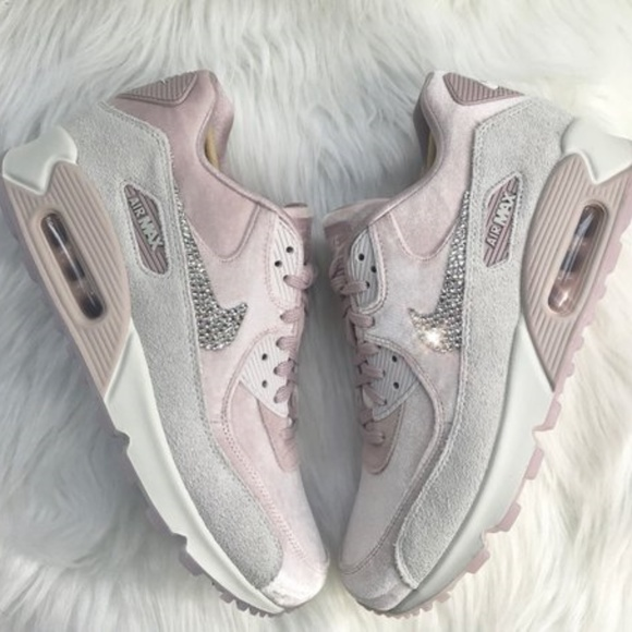 b5d403baf0 Swarovski Nike Bling Pink Air Max 90 Velvet XL. M_5b49a2340cb5aa2a3ee9464e